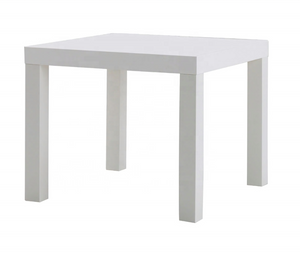 MDF Wood White End Side Table for Salon