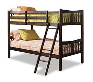 Convertible Espresso Wood Bunk Bed