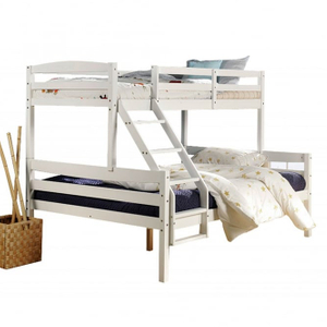 Wood Bunk Bed for 3 People
