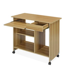 Modern Wooden Computer Desk With Casters