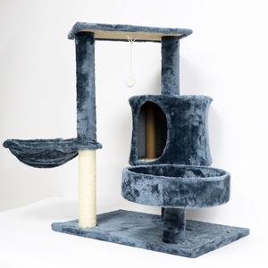 Wooden Cat Play House with Cover