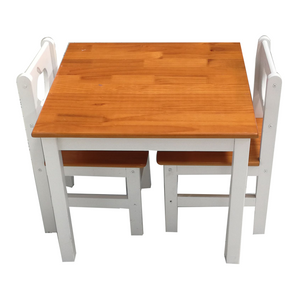 Solid Pine wood Children Table And Chair Set