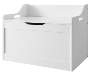Wooden White Toy Storage Box for Kids