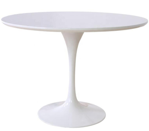 White Solid Wood Round Coffee Table