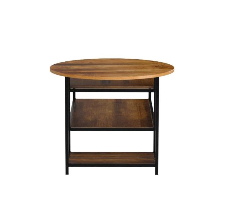 Round Coffee Table and Rectangular Coffee Table 2 in 1