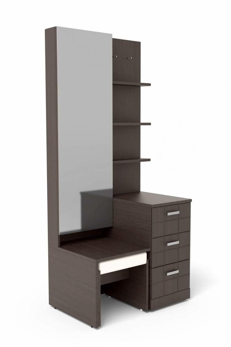 Modern Wood Dressing Table with Mirror