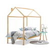 Chidren House Bed Frame in Pine Wood