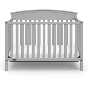 Solid Pine Wood 4-in-1 Convertible Crib for Kids