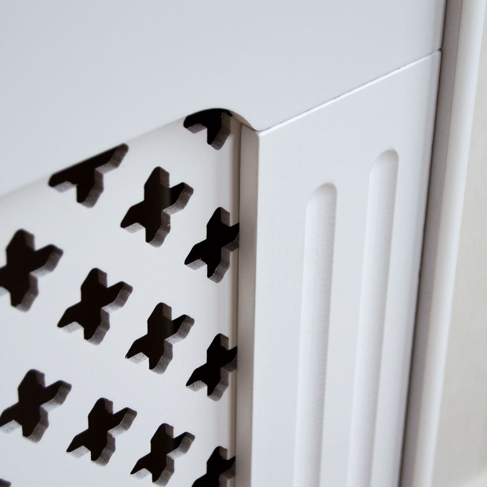 White Solid Wood Radiator Cover