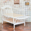 Protable Baby Crib with Caster in Wood