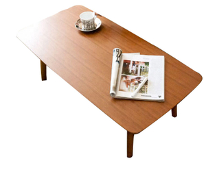 Simple retro wood folding coffee table