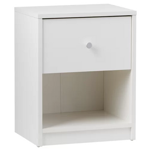 White Modern Wood Night Stand for Bedroom